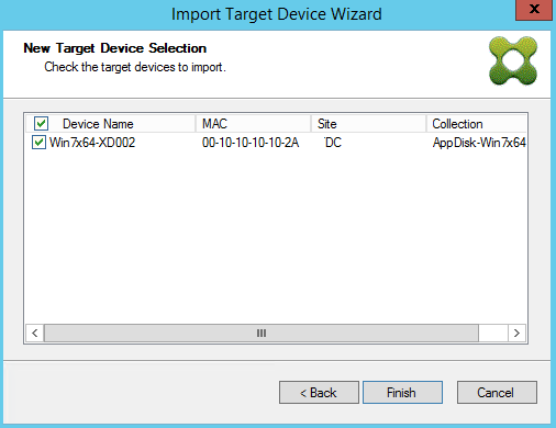 Import Target Device Wizard New Target Device Wizard