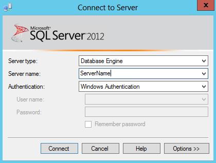 Microsoft SQL Server Management Studio Username and PW