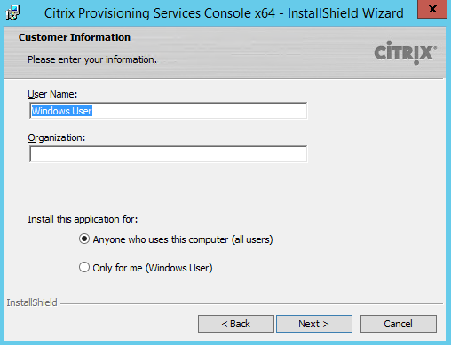 PVS 7.8 Console Cust Info