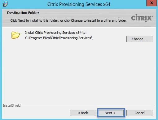 PVS 7.8 Destination Folder