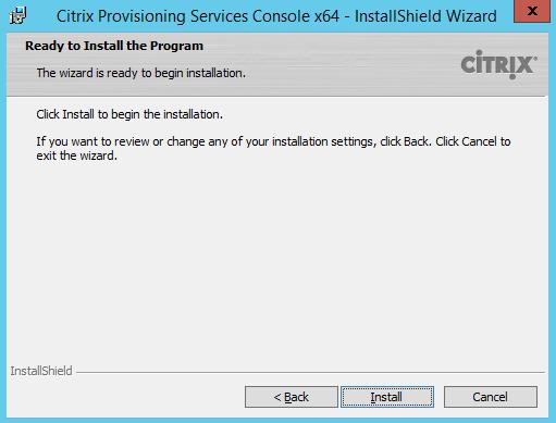 PVS 7.8 Ready Install 1