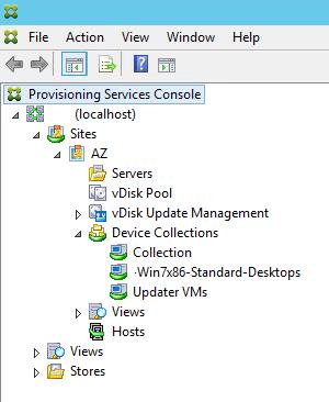 PVS Console Screen