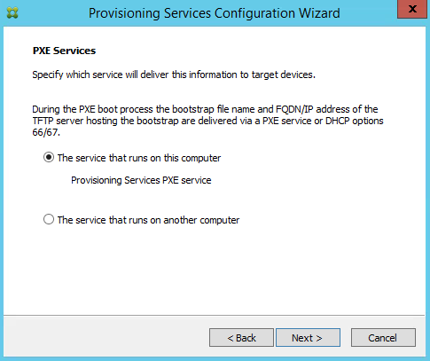 PVS PXE SVC Citrix 7.8