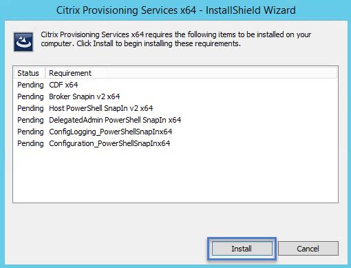 PVS Server Install