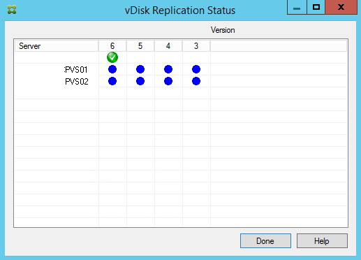 PVS vDisk Replication Status Check