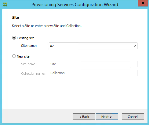 Provisioning Services 7.8 Site