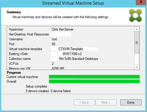 Streamed VM Wizard Done