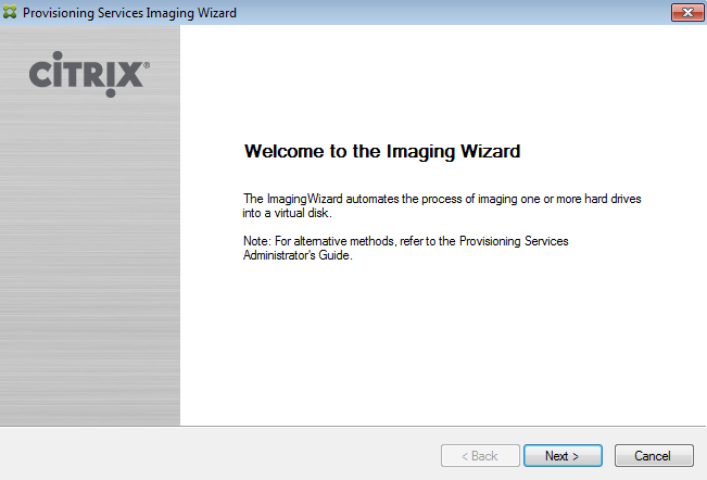 Welcome to the Imaging Wizard