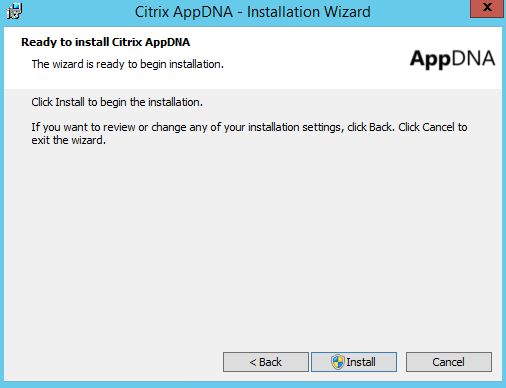 Citrix AppDNA 7.9 Ready to Install Citrix AppDNA 7.9