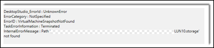 Citrix XenApp 7.6 Error ID VirtualMachineSnapshotNotFound 1