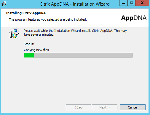 Installing Citrix AppDNA 7.9 Copy New files
