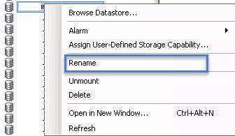 Rename Datastore Vmware