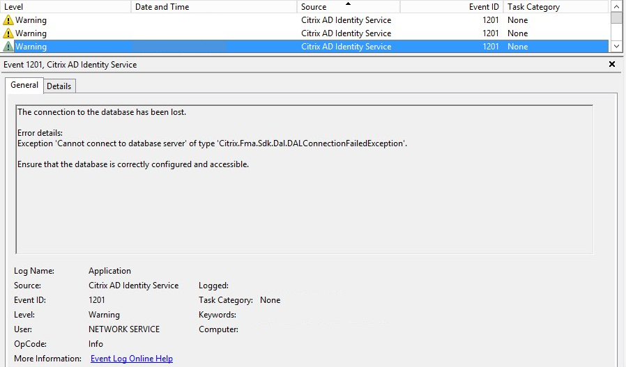 Valid Delivery Controller Services Not Found XenDesktop